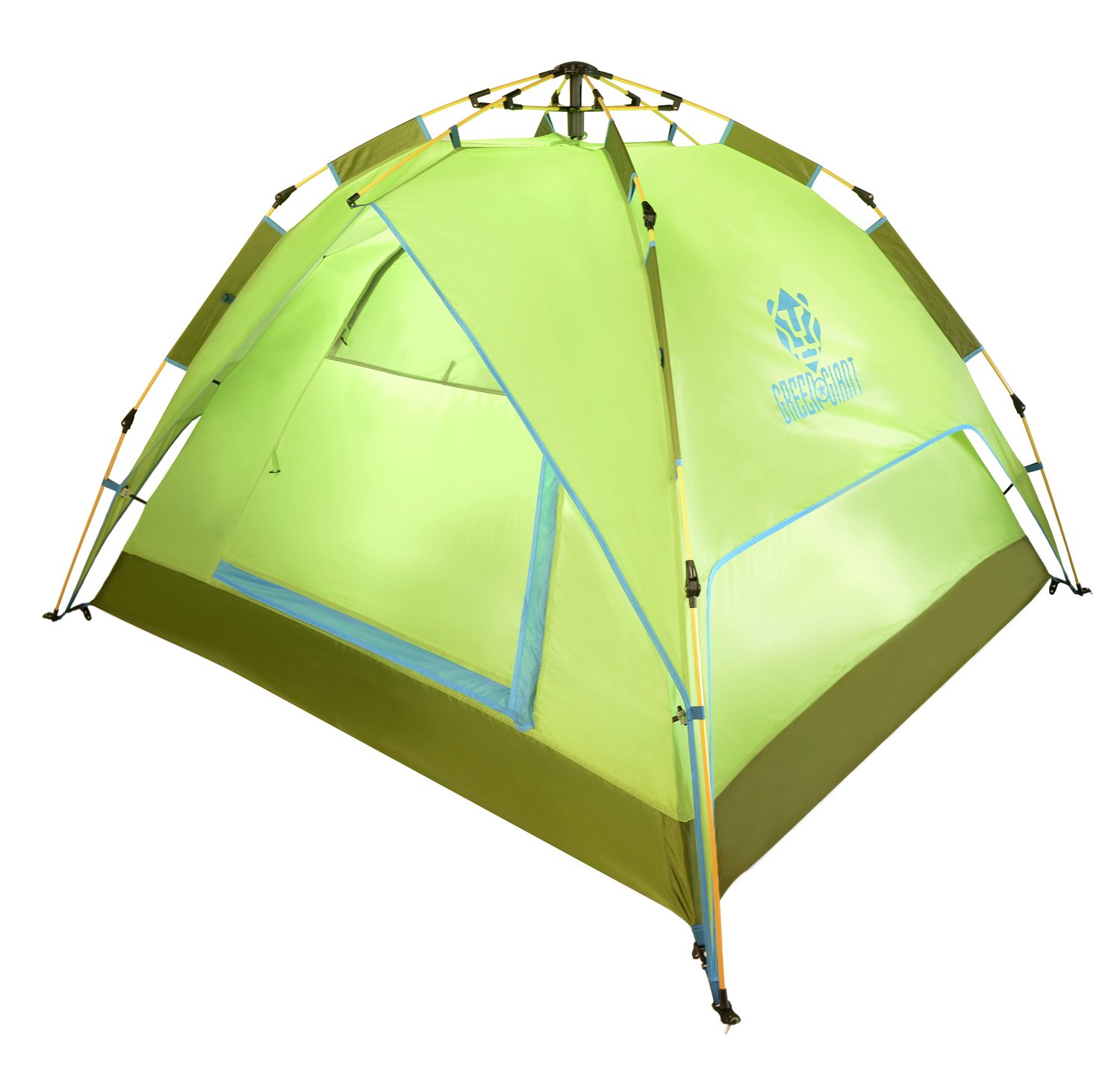 Green&Giant 4 Persons Tent Family Tent for Camping Hiking Backpacking Automatic Quick Opening