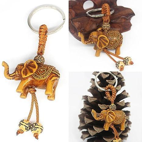 Voiks - Llavero con diseño de Elefante de la Suerte, con ...