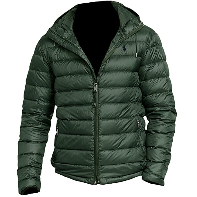 e08713bd9b24 Polo Ralph Lauren Men s Packable Down Jacket Coat (Medium
