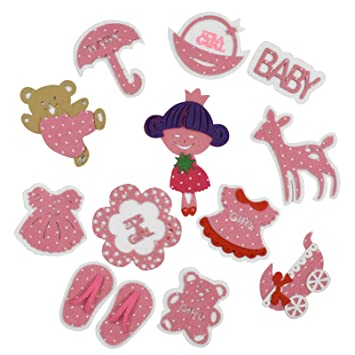Buy Asian Hobby Crafts Felt Embellishments Baby Girl 12 Pieces