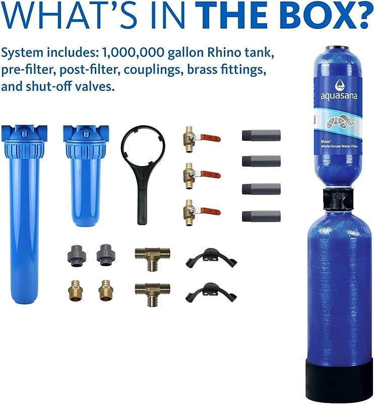 Aquasana EQ-1000 Water Filter components