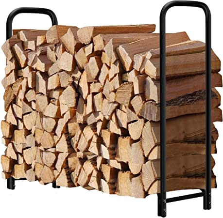 Amagabeli Garden and Home 4ft Outdoor Log Rack - Durability