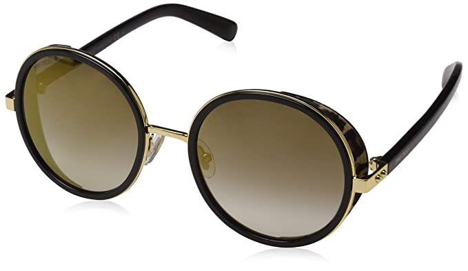 52e4610348 Amazon.com  Jimmy Choo Andie N S 0NQ Gold Black Andie N S Round Sunglasses  Lens Category  Jimmy Choo  Clothing