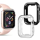 Goton Compatible iWatch Apple Watch Case 40mm SE/Series 6 / Series 5 / Series 4, (2 Packs) Soft TPU Shockproof Case…