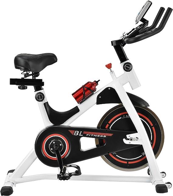 in.tec] Bicicleta estática/Indoor Cycling - Blanca - Ejercicio en casa - Fitness - Spinning: Amazon.es: Hogar