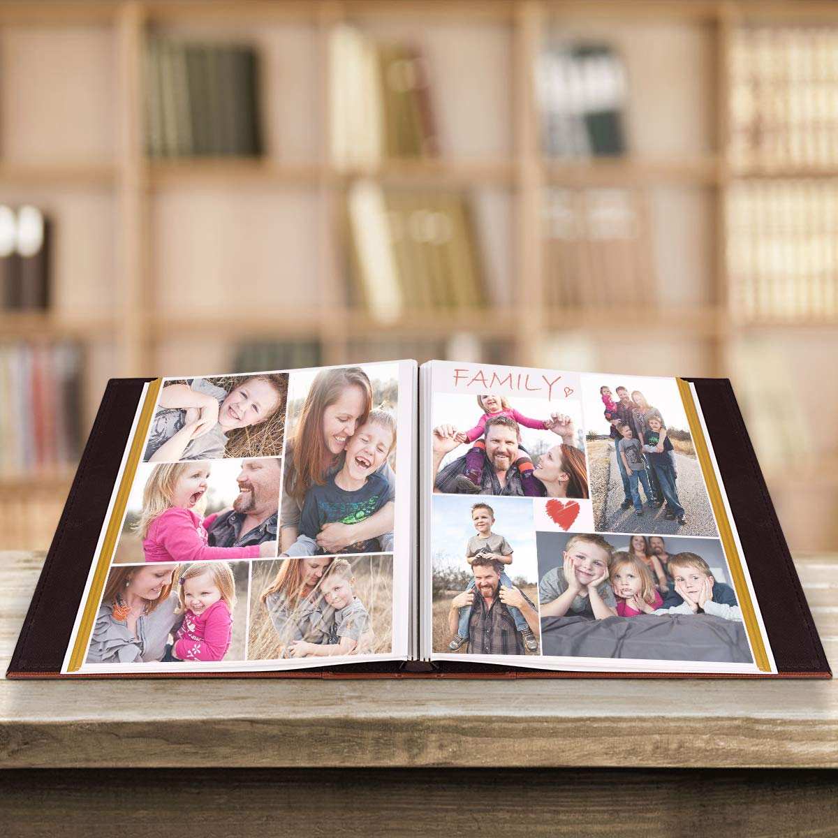 Photo/ Album/ Self/ Adhesive,/ Large/ Scrapbook/ Album/ Magnetic/ Pages/ with/ Leather/ Cover,/ Family/ Picture Albums/ Waterproof/ Memory/ Book/ for New/ Baby Wedding,/ Anniversa