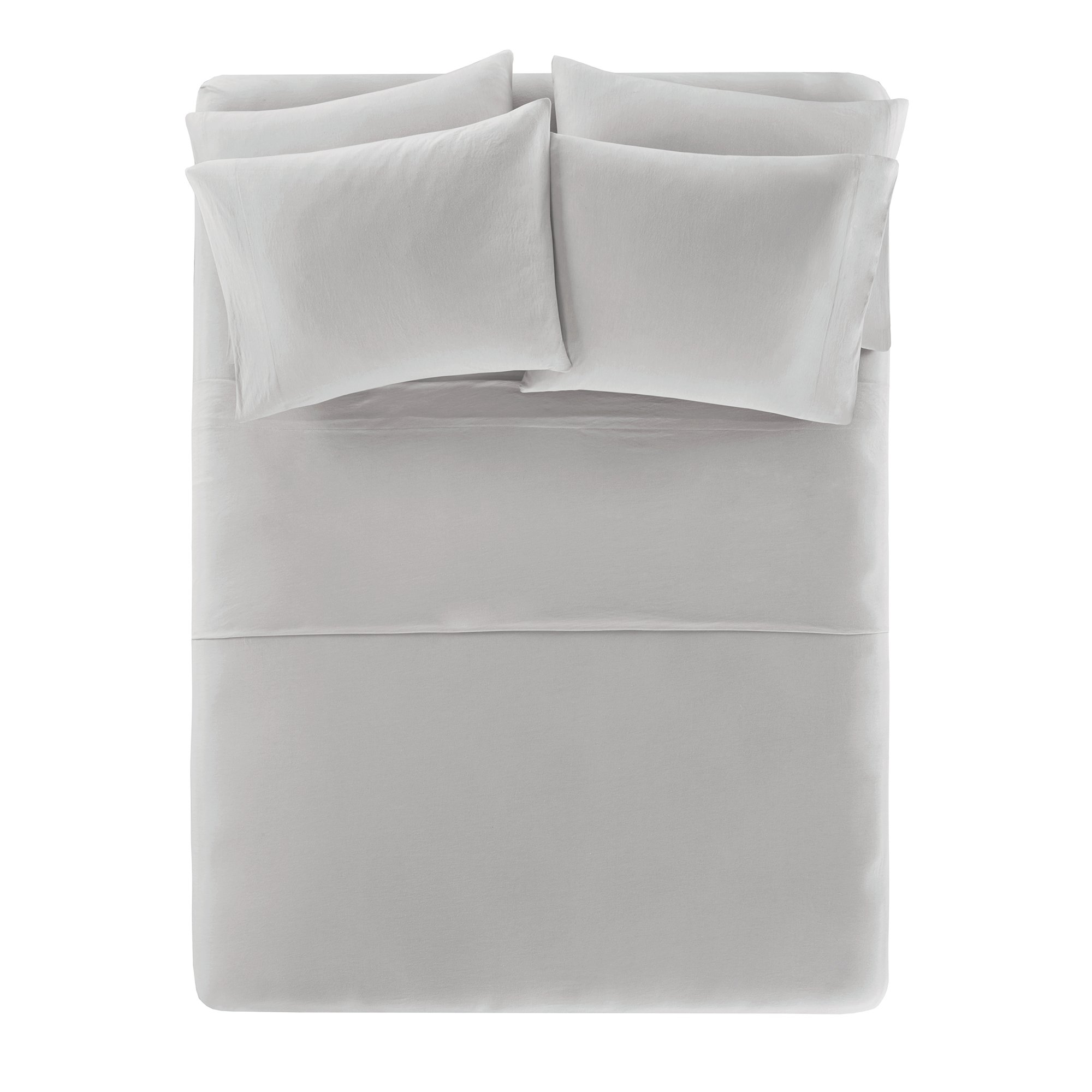 Comfort Spaces Cotton Jersey Knit Sheets Set Ultra Soft King Bed