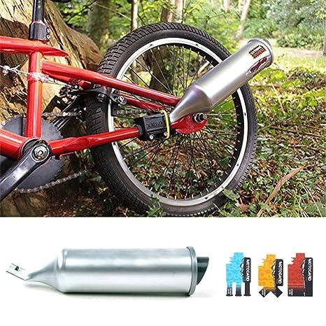 Waroomss Sistema de Escape de Bicicleta Turbospoke, Tubo de Escape de Bicicleta Motor de Escape