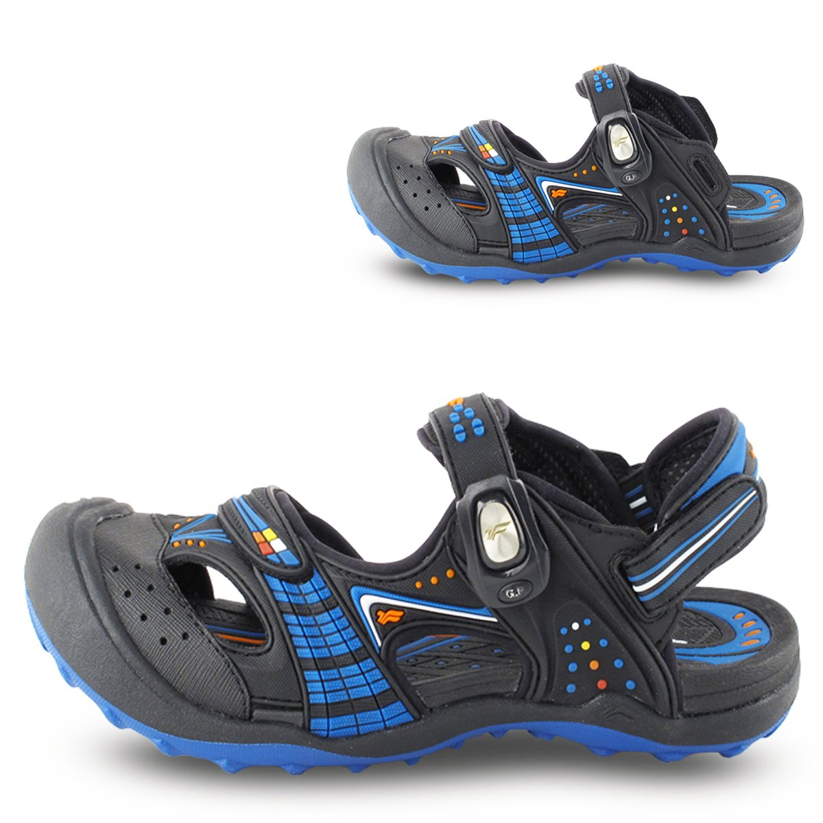 Toe Guard Sandals for Boys /& Girls Easy On//Off SNAP Lock Closure
