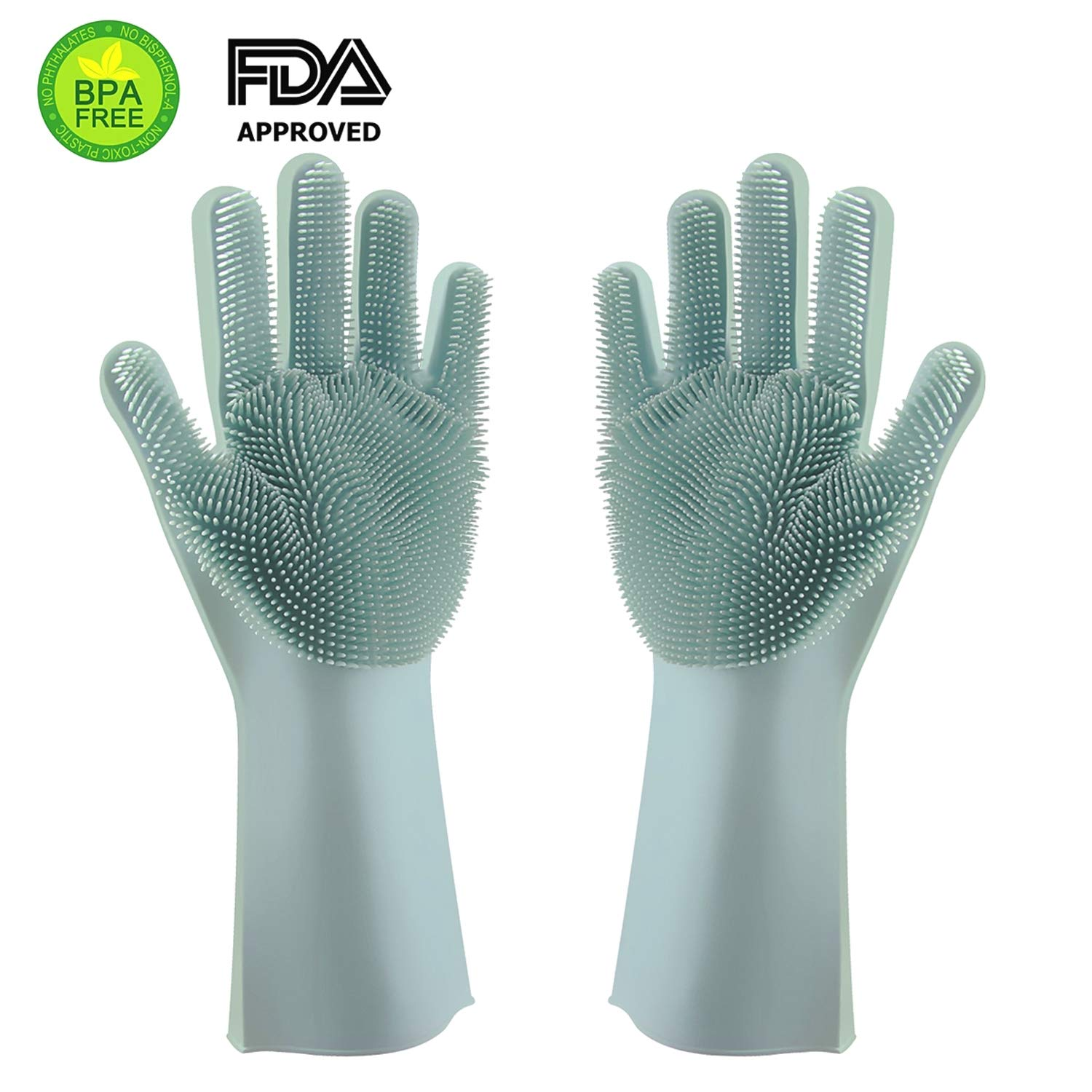 Silicone Cooking & BBQ Gloves ★ Heat Resistant, Grilling Glove For Men and Women ★ Perfect For Cooking, Baking & Barbecuing ★ Use As Oven Mitts, Pot Holder Or Grips ★ Great Gift Idea