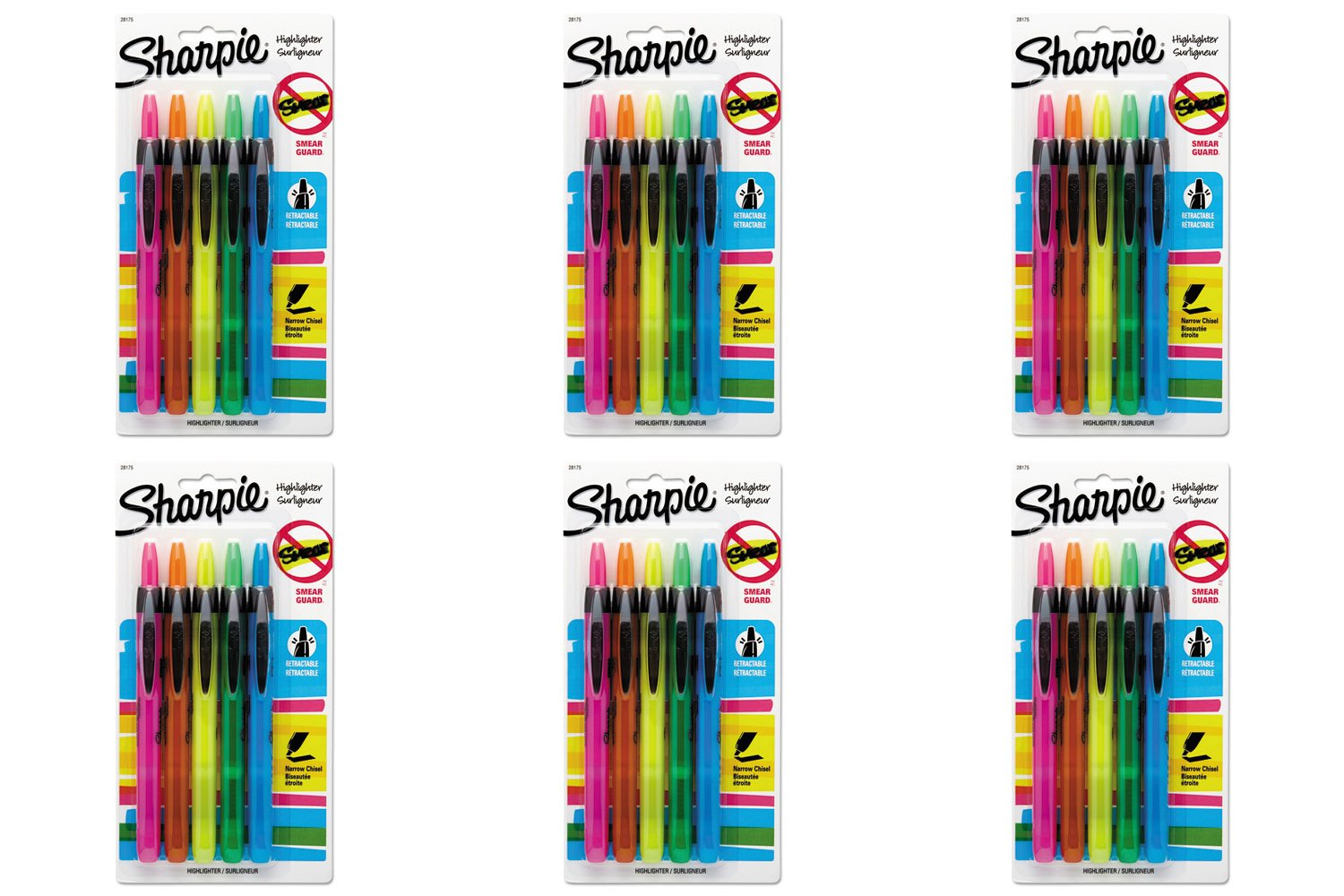 Sharpie Accent Retractable Highlighters, 6 Packs by Sharpie (Image #1)