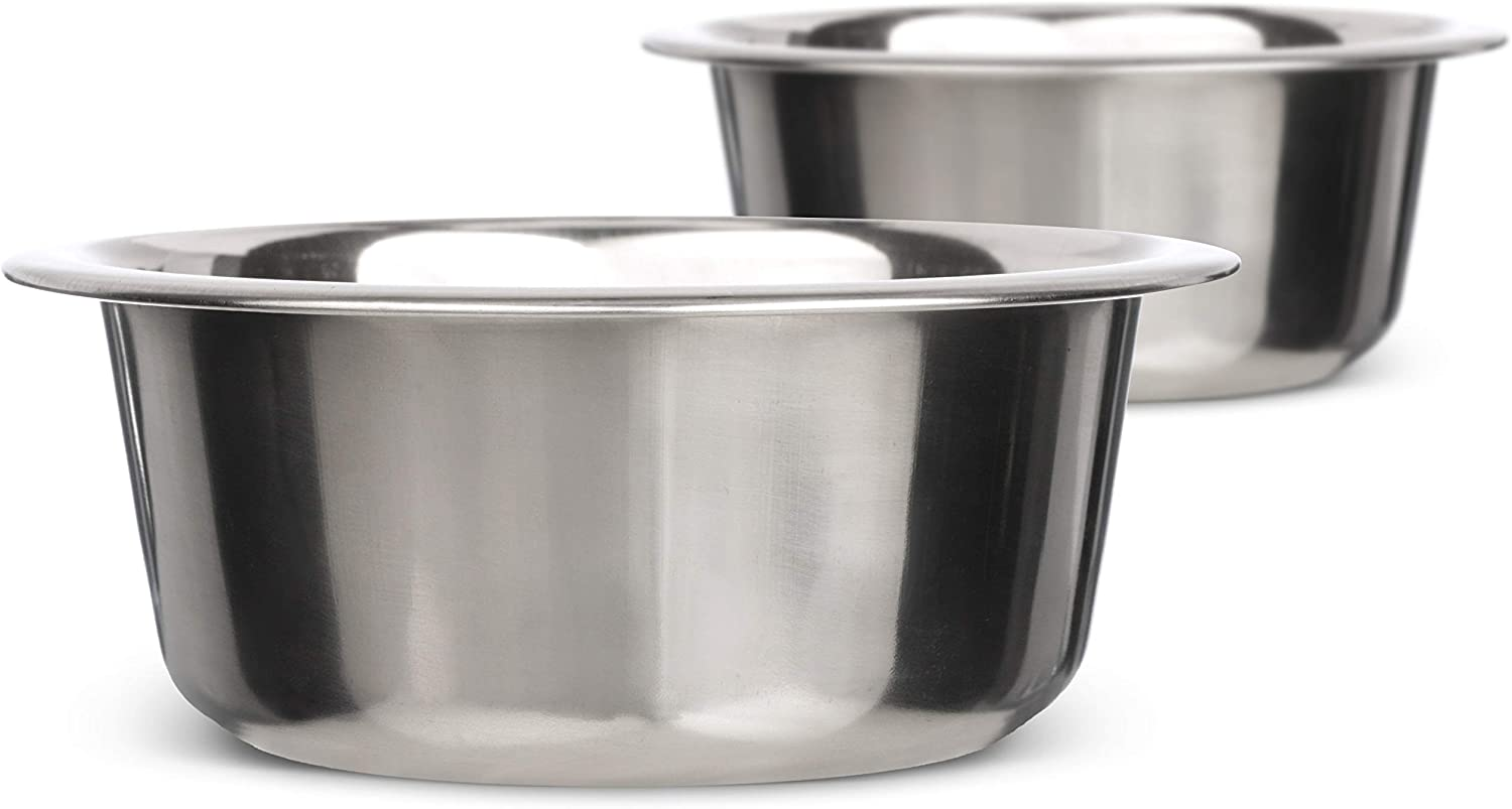 Neater Pet Brands Stainless Steel Dog and Cat Bowls (2 Pack) Neater Feeder Small Deluxe Extra Replacement Bowl (Metal Food and Water Dish) (2.2 Cup)