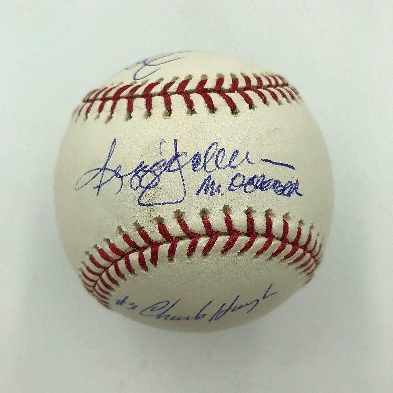 Reggie Jackson 1977 World Series 3 Home Runs Signed Baseball With All Pitchers - Autographed Baseballs