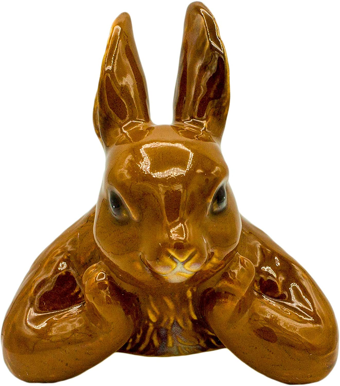 Lillian Vernon Self Watering Ceramic Rabbit Pot Stake Peeker