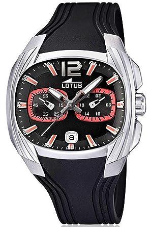 Lotus 15756/6 - Reloj analógico de Cuarzo para Hombre con Correa de plástico, Color Negro: Amazon.es: Relojes