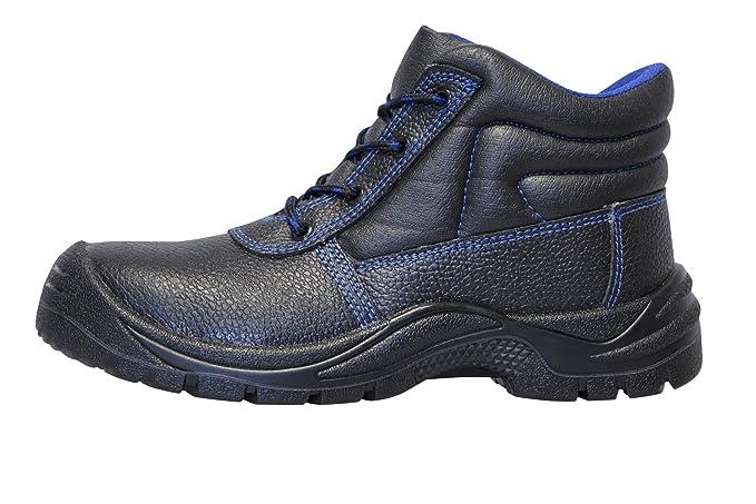 KERMEN - Zapatos de trabajo S3 SRC para hombre Calzado de seguridad negro 36