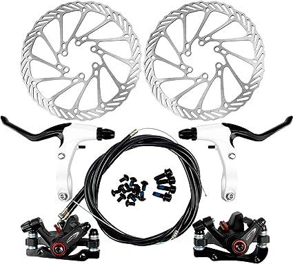 Yorbay Disco de Freno NV5 BD-09 160mm para Bicicleta Blanco con ...