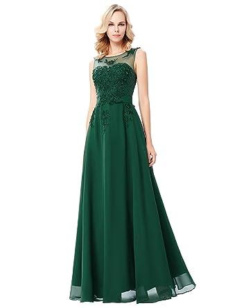 Damen Cocktailkleid Hochzeitsfeier Lang 40 Cl007555 8 Amazon De