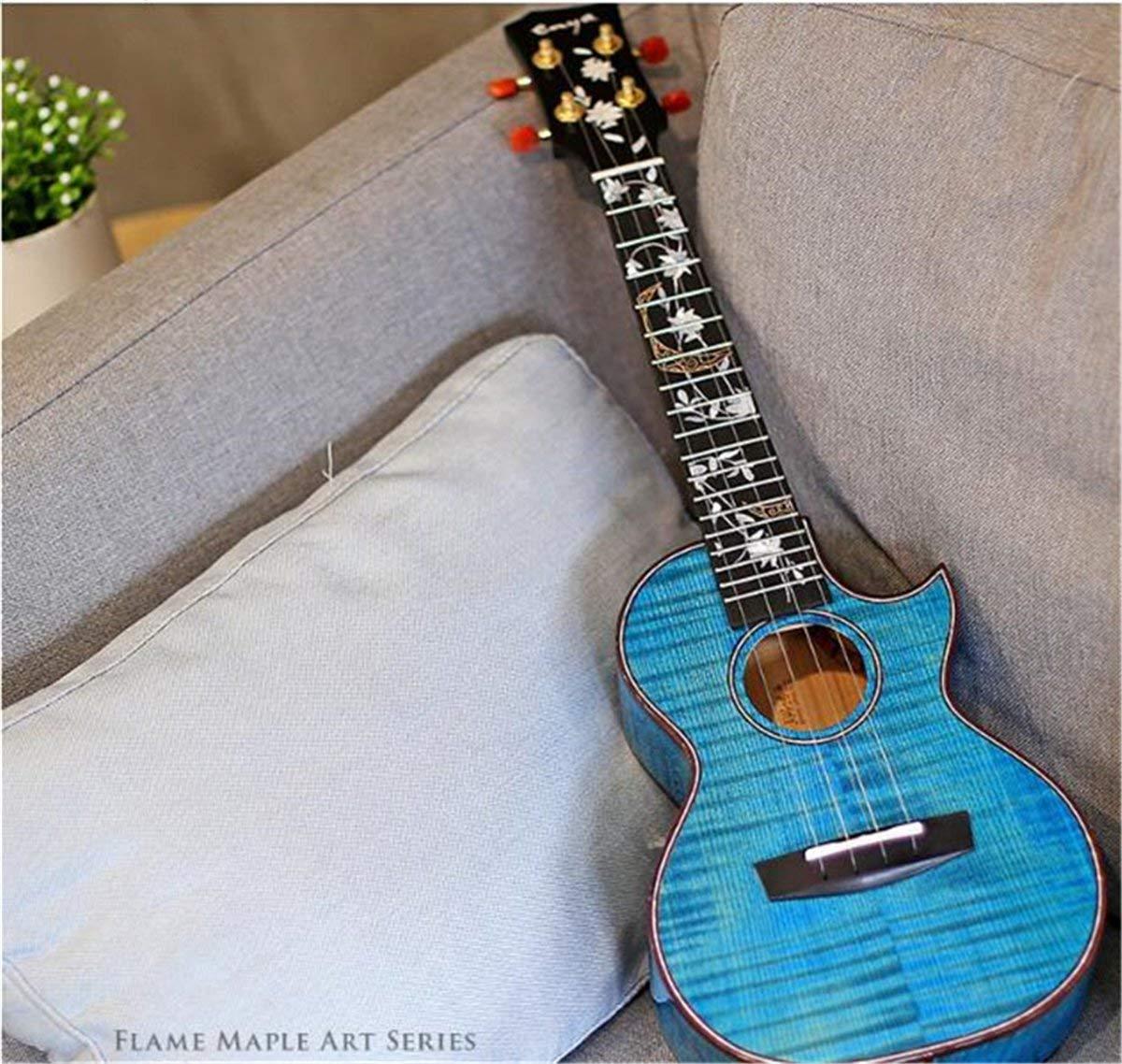 Enya コンサート ウクレレ フラワー シリーズ ソリッド 5A タイガー フレイム メープル ボディ ハワイ ギター 4弦 楽器   B07L8NZR7T