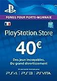 Carte Playstation Network 40 EUR [Code Jeu PSN PS4, PS3, PS Vita - Compte français]