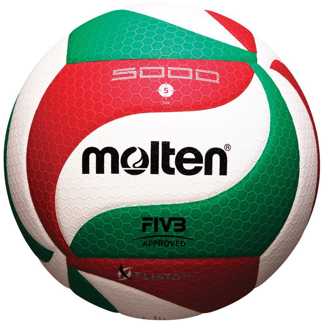 Molten V5M5000 Men's NCAA Flistatech Volleyball (Red/Green/White, Official) by Molten