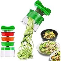 Risseen Rissen Spiralschneider Hand für Gemüsespaghetti, 3-Klingen Gemüse Spiralschneider, Gemüsehobel für Karotte, Gurke, Kartoffel,Kürbis, Zucchini, Zwiebel
