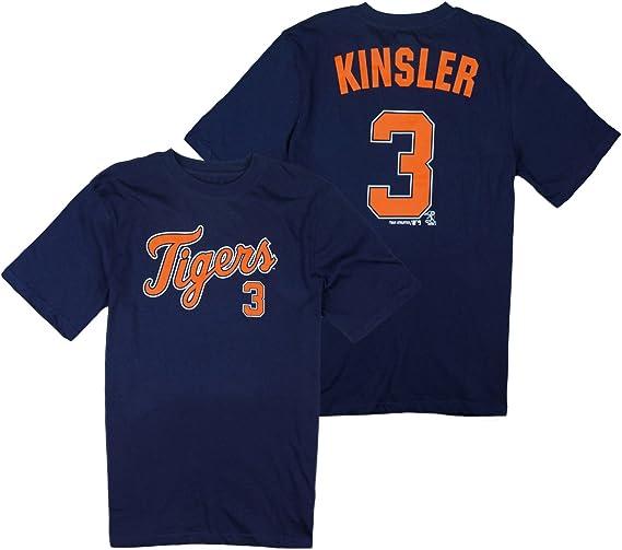 Outerstuff Detroit Tigers MLB Big Boys Ian Kinsler # 3 Player Shirt - Navy Blue