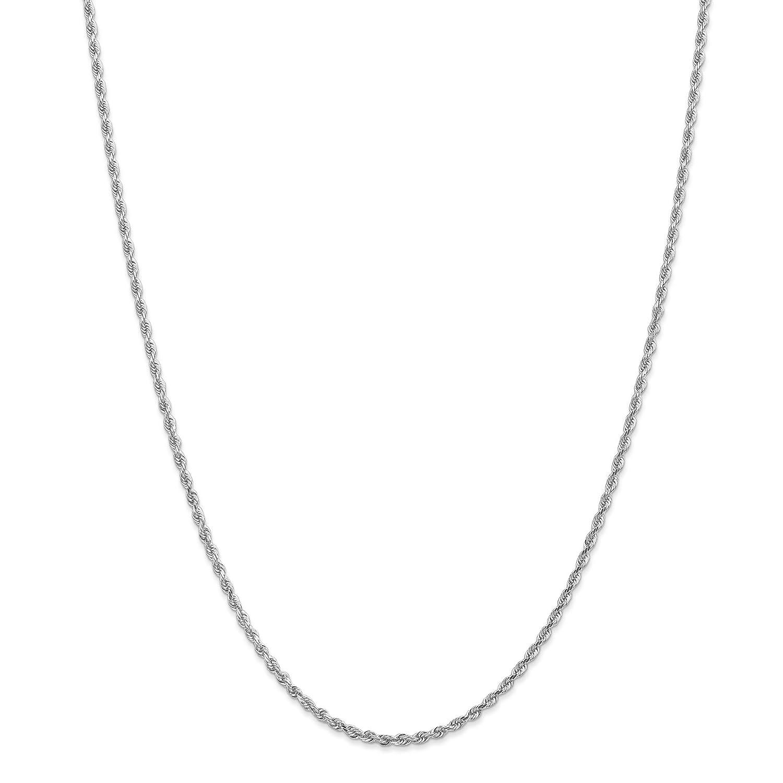 10 Kホワイトゴールド2.25 MMダイヤモンドカットQuadrupleロープチェーン B0791DHDFZ 16.0 インチ