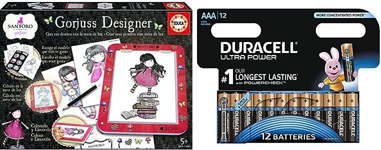 Gorjuss - Designer (Educa Borrás 17266) con Duracell Ultra Power - Pack DE 12 Pilas alcalinas AAA: Amazon.es: Juguetes y juegos