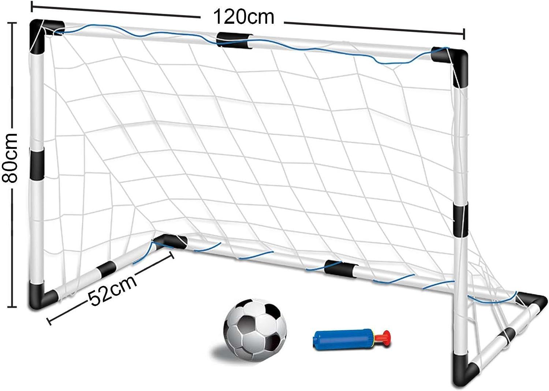 Inside Out Toys Set de portería de fútbol para niños - con 1 portería, Redes y balón - 120 cm x 80 cm: Amazon.es: Juguetes y juegos
