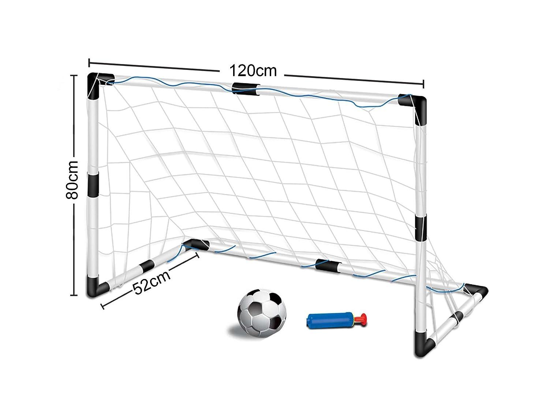 Fußballtor-Set für Kinder - 1 Tor mit Netz und Ball - 1,2 x 0,8 m (B x H)