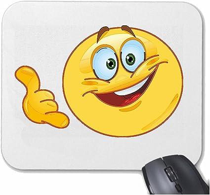 Mousepad alfombrilla de ratón Sonriente divertido CON LA MANO ...