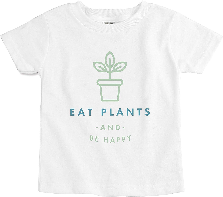 The Spunky Stork Eat Plants Be Happy Organic Cotton Toddler T Shirt