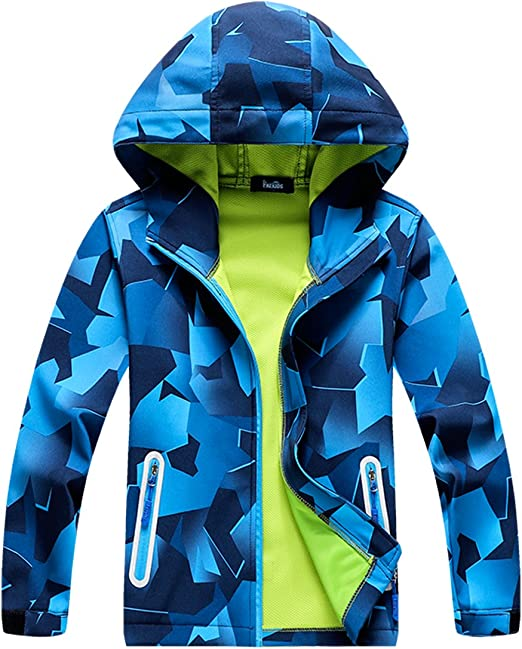 M2C Boys /& Girls Hooded Composite Mesh Lined Softshell Jackets