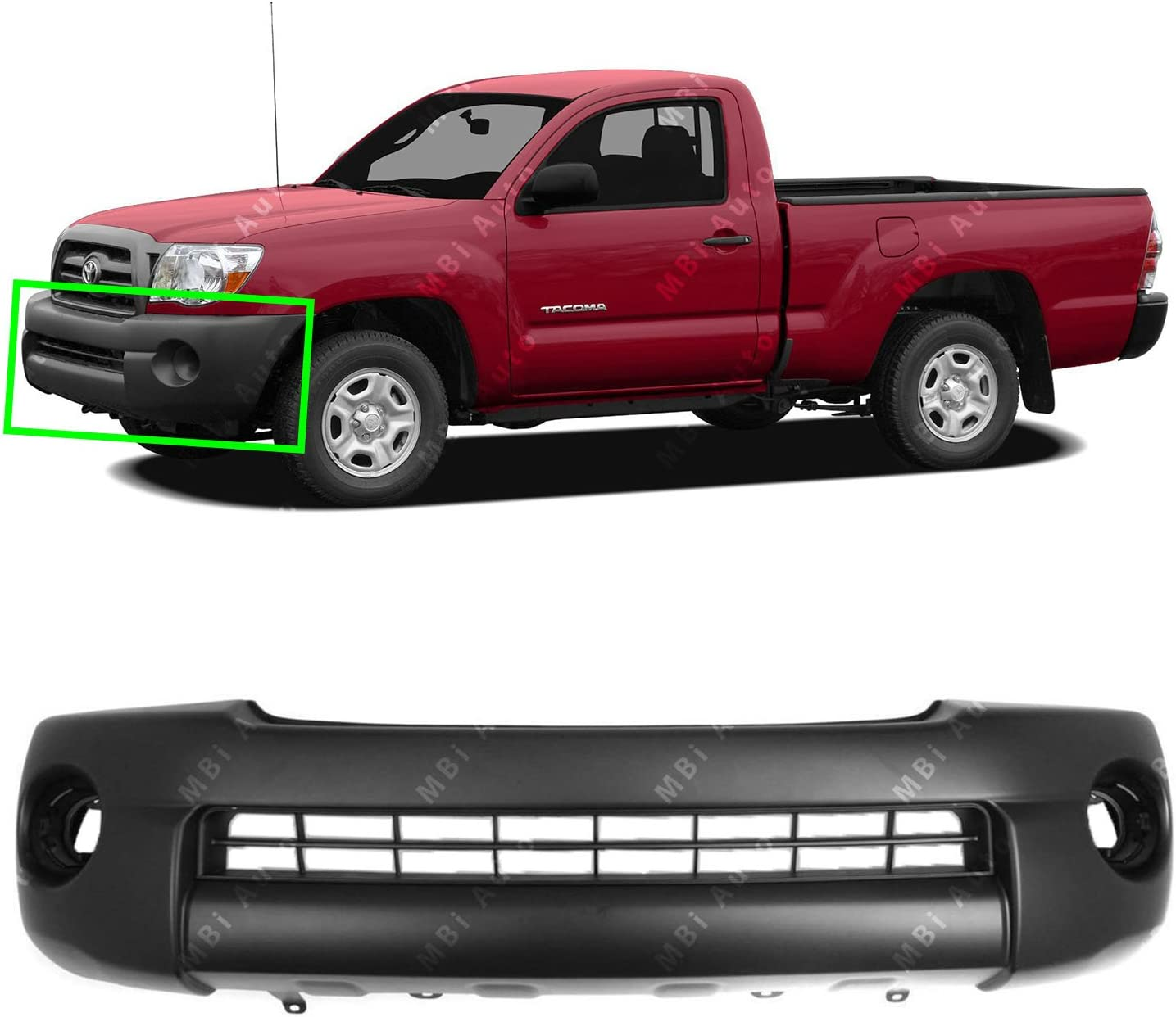 TO1000304 Front Bumper Cover Fascia for 2005-2011 Toyota Tacoma Base Pickup 05-11 Textured BUMPERS THAT DELIVER