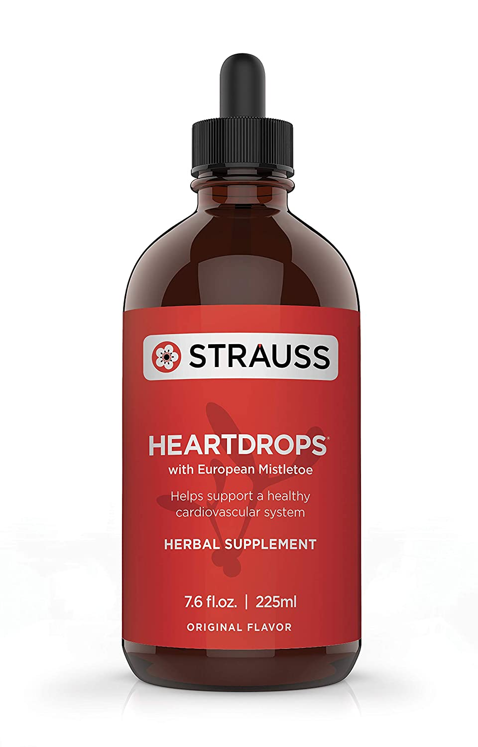 Strauss Heartdrops Aged Garlic Extract, Herbal Supplement for Heart Health-Heartdrops Maintain a Healthy Cardiovascular System High Quality, Natural Ingredients 7.6 fl oz Original Flavor