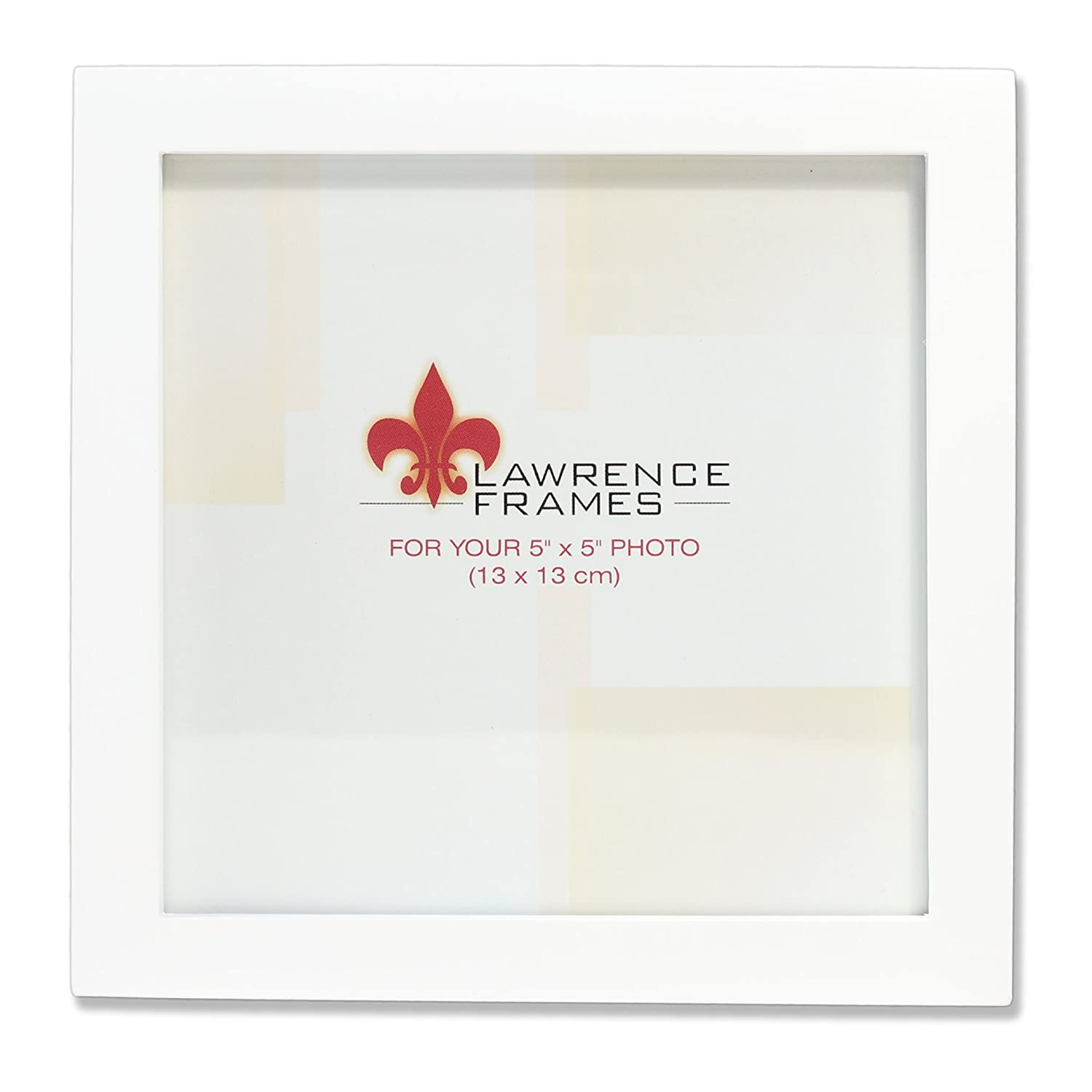Amazoncom Lawrence Frames White Wood Picture Frame Gallery