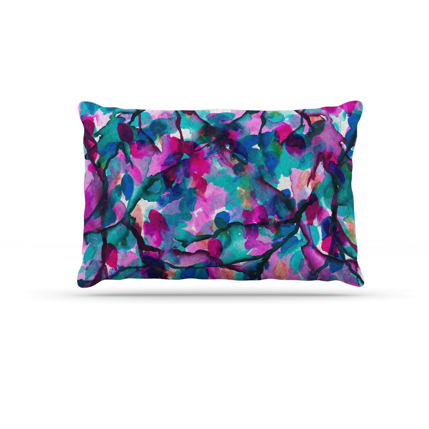 KESS InHouse EBI Emporium by Any Other Name 1  Magenta Teal Watercolor Dog Bed, 30  x 40