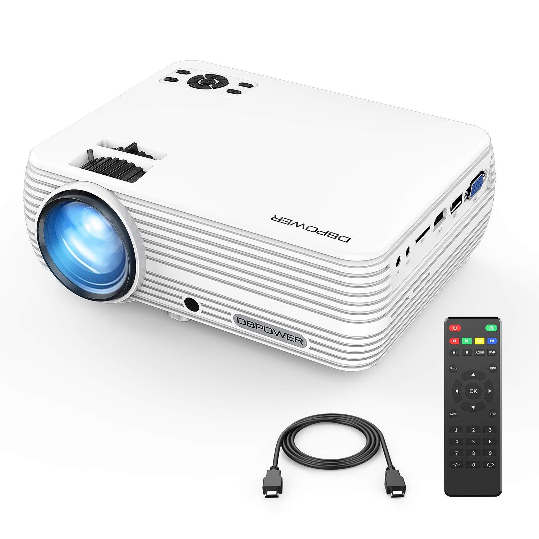 DBPOWER Mini proyector de vídeo portátil 50.000 Horas LED Full HD ...