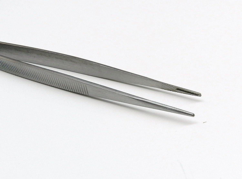 "Diamond Tweezers With Grooved Tips Gemstone Tweezer Medium Tip 6-1//2/"" Stainless"