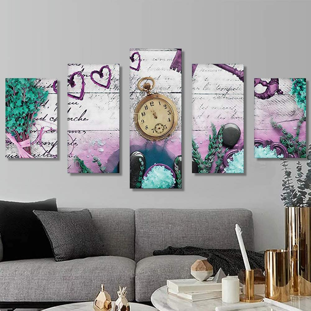 DIY 5D Diamond Painting Knitted Embroidery Cross Stitch Kit Wall Sticker Decor Hanging Picture Handmade Art Craft Full Drill Quadruple Valentines Romantic Pattern No Fade Gorgeous Multi, 4080cm
