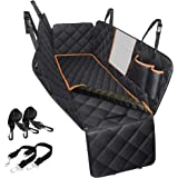 Dog Car Seat Cover, Large Back Pet Car Seat Protectors with Mesh Viewing Window and Extra Cover for a Quick wash, 2 Seat Belt