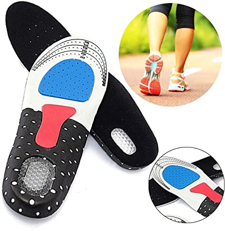 NEW Gel Orthotic Sport Running Insoles Insert Shoe Pad Arch Support Heel Cushion