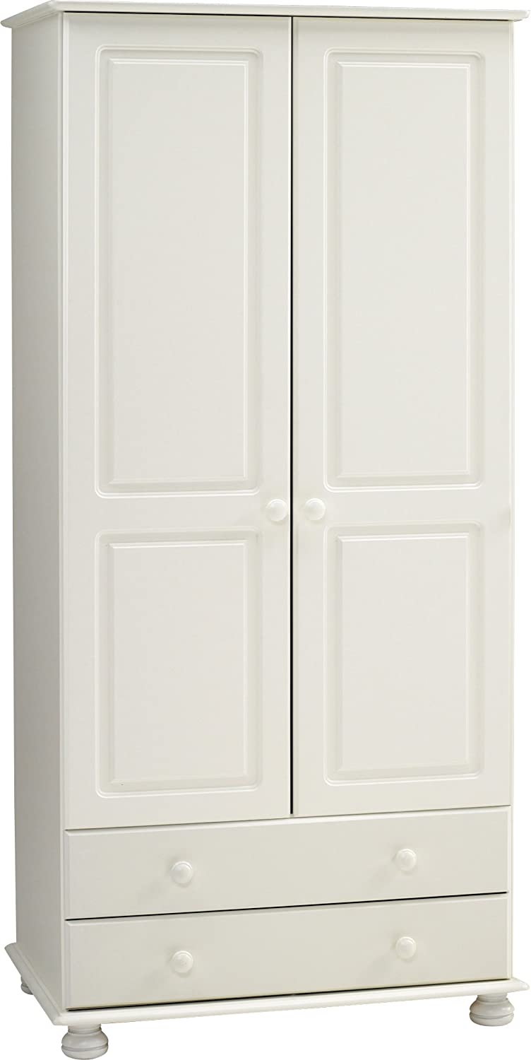 Steens Furniture Richmond 2-Door 2-Drawer Wardrobe, White