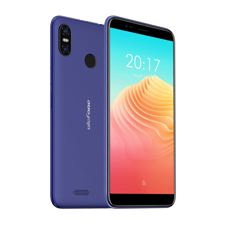 Ulefone S9 Pro, Smartphone Libre 4G, Android 8.1, Portátil, Pantallla Grande 5.5 Pulgadas, 2GB+16GB, Doble SIM, Desbloqueo Facial y Desbloqueo de Huellas Digitales, Batería 3300mAh (Azul)