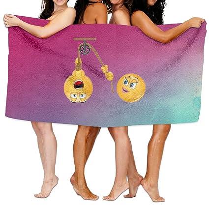 Porno Emojis Unisex albornoz de microfibra para toalla de baño (Wrap, Sauna, viajes