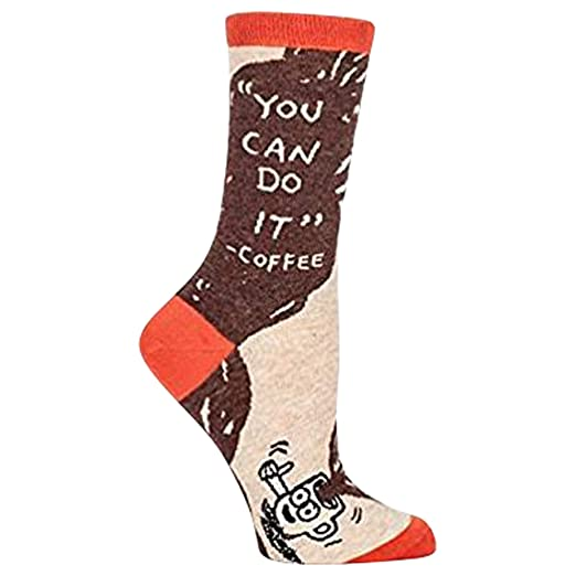 a2fe70268 Amazon.com  Blue Q Womens You Can Do It Coffee Socks Brown  Shoes