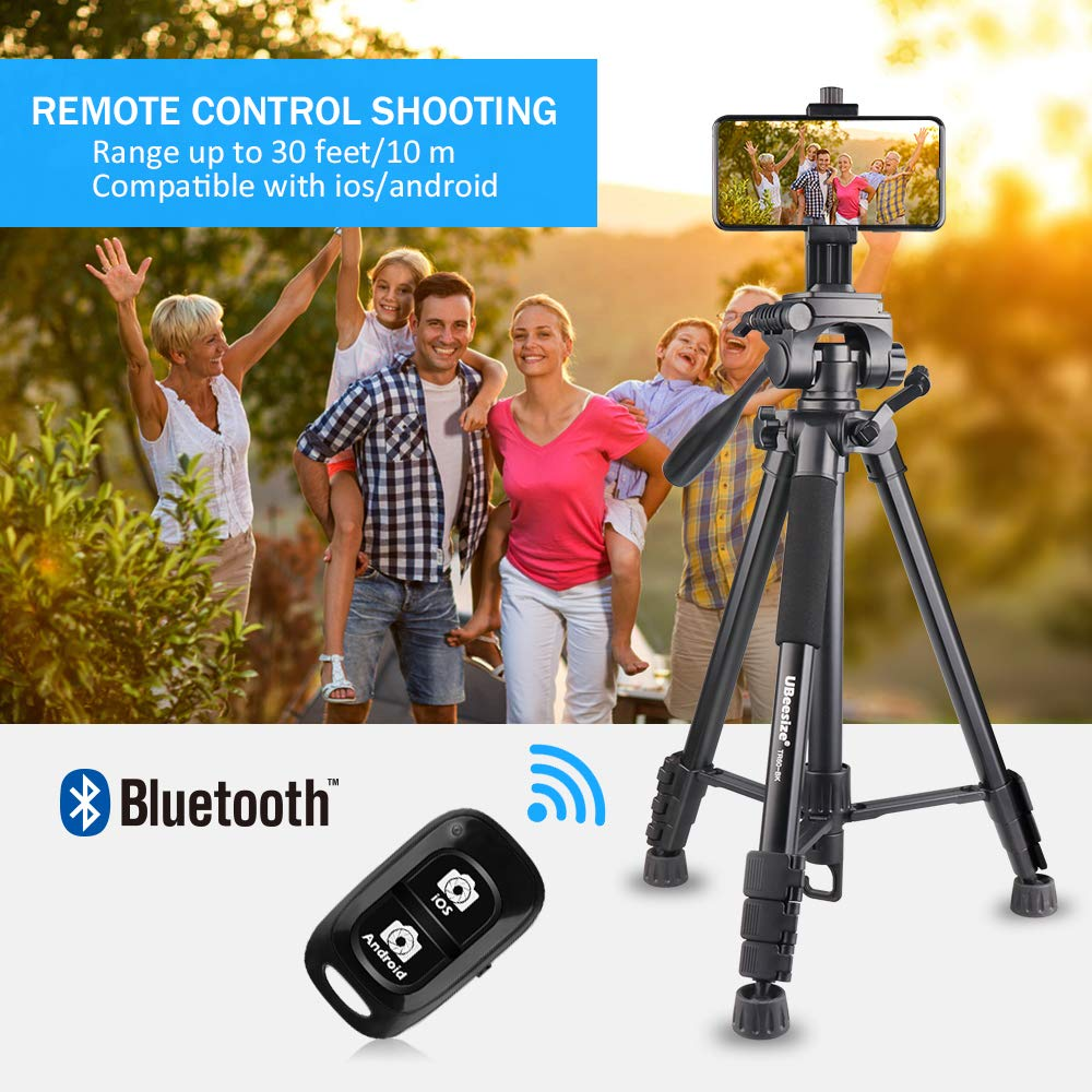 best sneakers 2b0c0 09dff UBeesize 60-inch Camera Tripod, 5kg/11lb Load TR60 Load Portable  Lightweight Aluminum Travel Tripod with Carry Bag & Bluetooth Remote, for  DSLR SLR ...