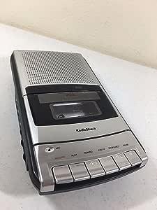 Vintage radio shack mini electronics cassette tape player recorder audio speaker model  retro 1980 90s handheld v o r recorder tape player