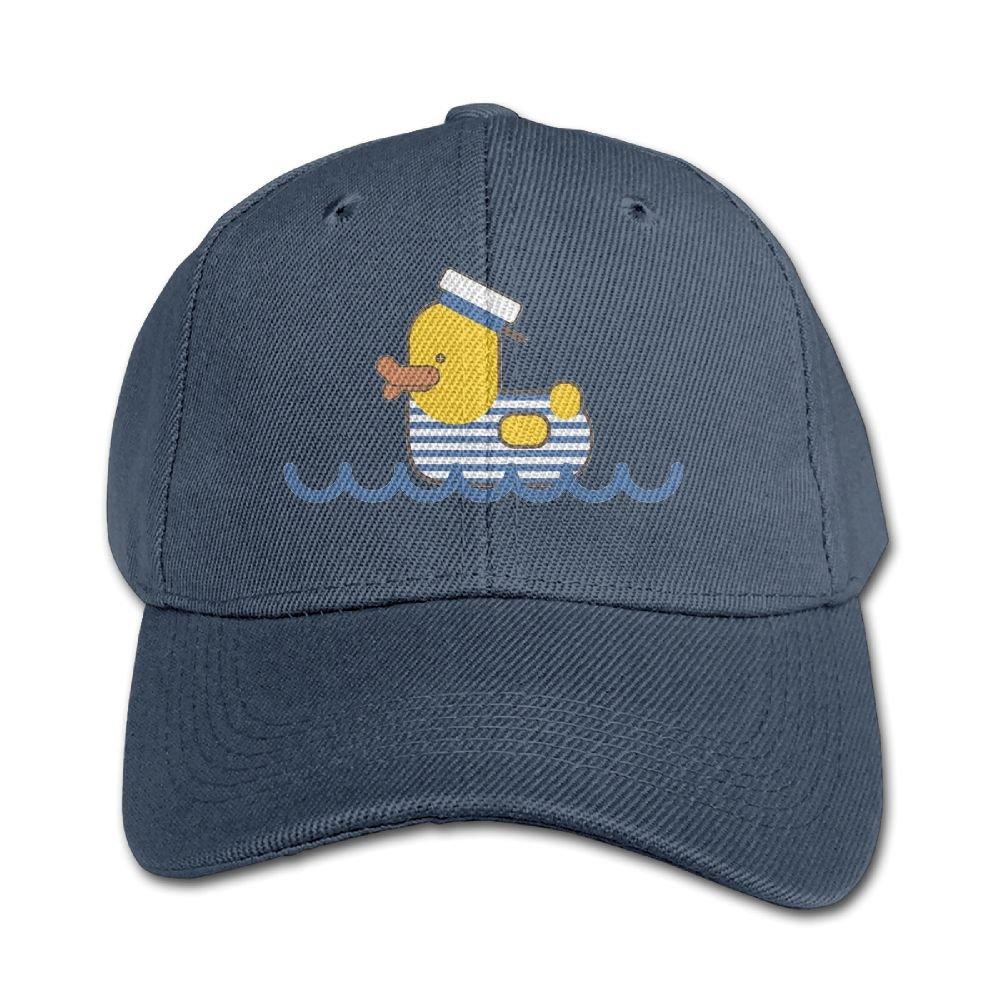 Haibaba Sailor Duck Boys and Girls Black Baseball Caps Solid Hats